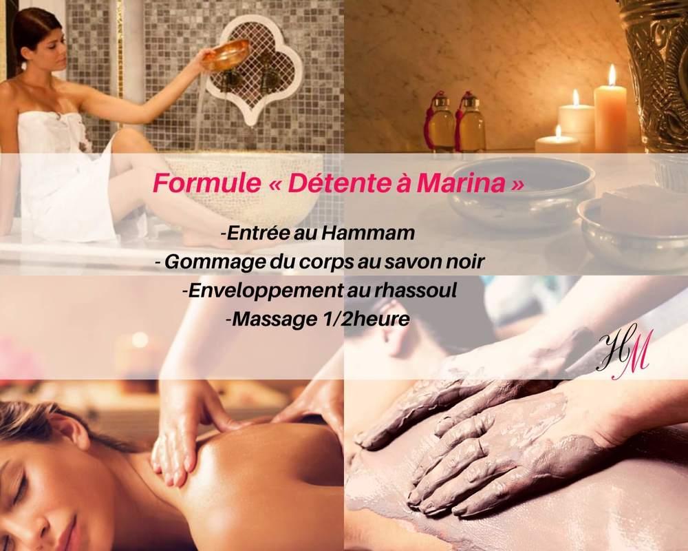 Formule détente Marina : massage et hammam traditionnel Annonay