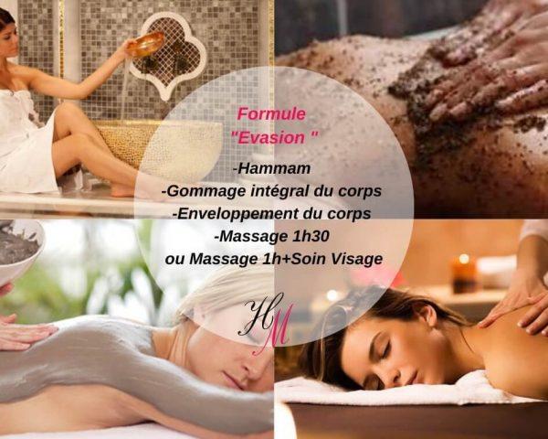 Formule Evasion : massage et hammam traditionnel Salaise-sur-Sanne
