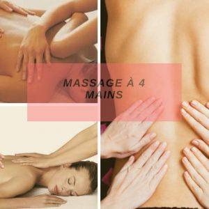 Massage à 4 mains : soin du corps Grenoble